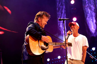 John Mellencamp with Kenny Chesney at Farm Aid 2012 / photo credit: Maria Ives